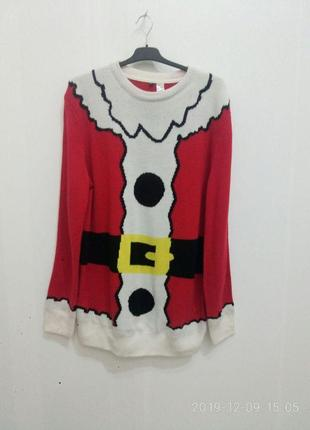 Рождественский, новогодний свитер санта клаус,  h&m