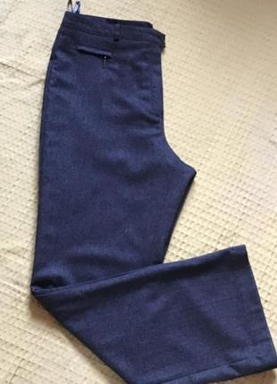 Тёплые шерстяные брюки на подкладке, размер 14.