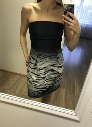 Шикарное платье корсет от dkny , зебра. с р.