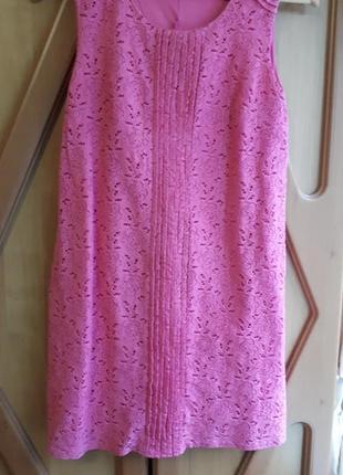 Кружевное гипюровое платье