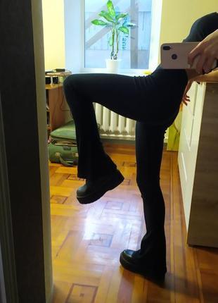 Штаны брюки в рубчик