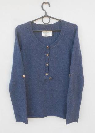 Шерстяной свитер джемпер с алпака с длинным рукавом