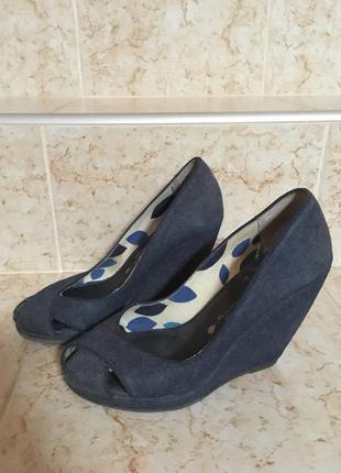 Джинсовые туфли bershka