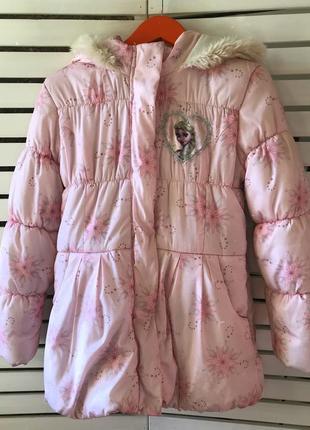 Зимняя куртка disney на 10-11 лет рост 140-146 см