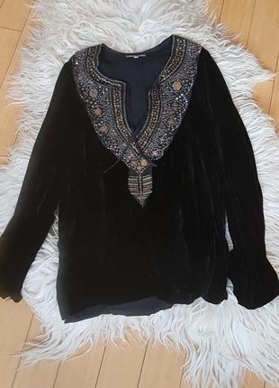 Блуза вечерняя бархатная франция ( шёлк, вискоза)