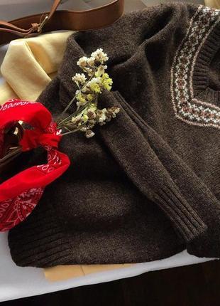 Теплий шерстяний светр 40/l woolmark