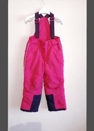 Зимние, лыжные штаны, полукомбинезон topolino