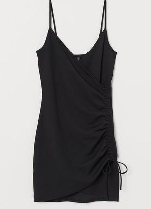 Новое черное платье сарафан h&m, под гольф или футболку. размер 40