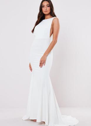 Платье с шлейфом missguided,  размер 12
