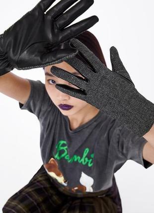 Комбинированные перчатки zara