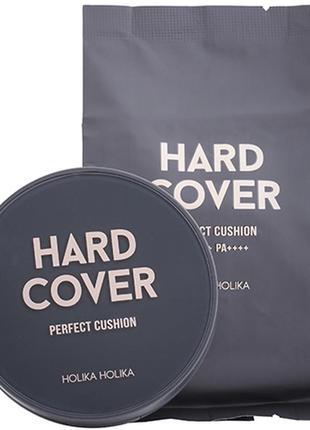 Кушон + запаска holika holika hard cover perfect cushion set spf50+ pa+++ темный беж