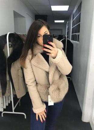 Женская зимняя дубленка парка куртка пуховик