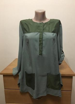 Блуза с шелковой вставкой  armani exchange