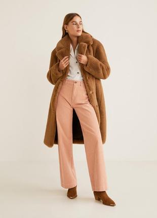 Срочно❗️прямые брюки из вельвета mango пастельно-розовый