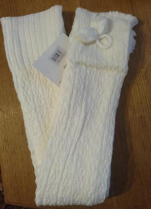 Гетри високі теплі гетры высокие теплые білі белые