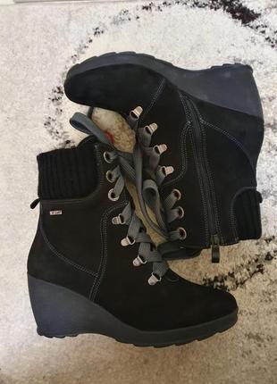 Зимние ботинки сапоги mida натуральный набук, внутри цыгейка 38 размер