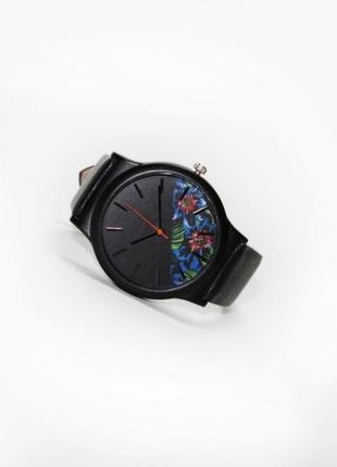 Часы flower blue