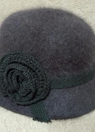 Ангоровая шляпка.57-58 см
