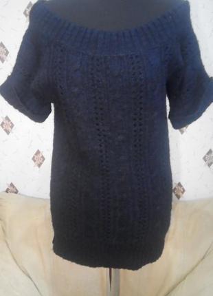 Вязаный фактурный джемпер свитер
