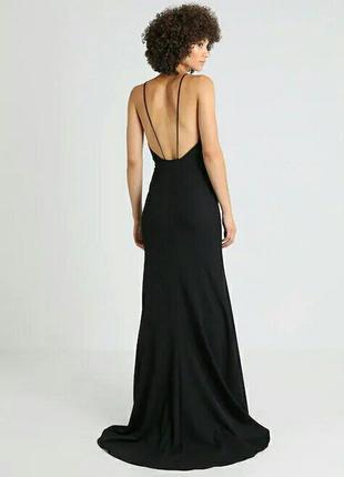 Платье в пол длинное со шлейфом открытая спина бельевой стиль брители кружево