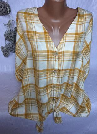 Стильная рубашка блуза в клетку