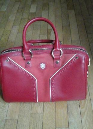 Красная сумка фирмы antonio biaggi1 фото