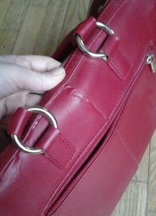Красная сумка фирмы antonio biaggi4 фото