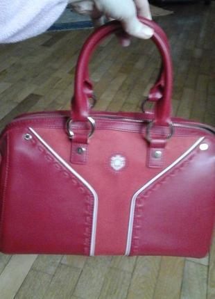 Красная сумка фирмы antonio biaggi8 фото