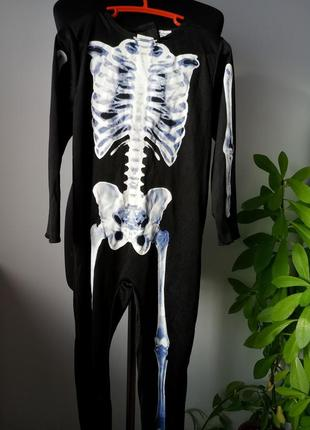 Карнавальный, новогодний костюм скелета, кащея, зомби от morrisons