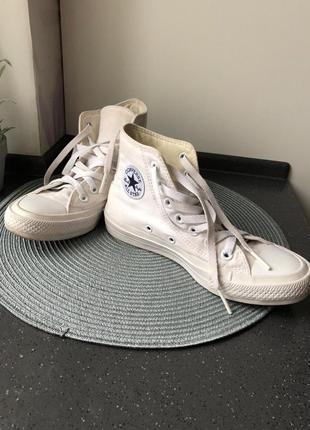 Белые кеды converse all star