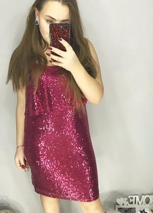 Платье в паетки, нарядное платье