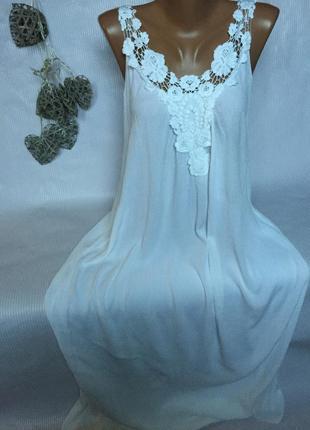 Воздушное лёгкое платье сарафан  в пол италия