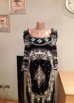 Интересное платье /туника с вышивкой и пайетками
