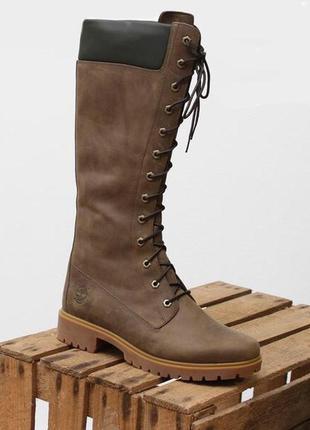 Високі шкіряні чоботи / черевики / сапоги / ботинкиtimberland - 37/23
