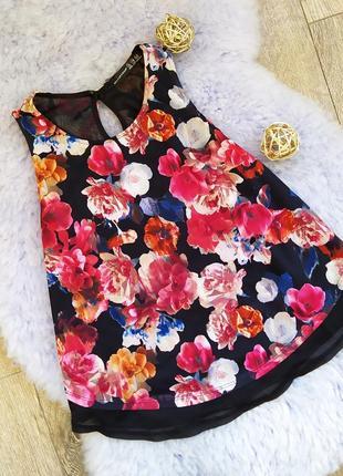 Майка блузка в цветочный принт