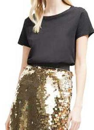 Вас могут спутать со звездой! обалденная юбка пайетки чешуя  золото. идеально на нг