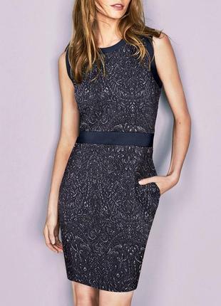 Распродажа! блестящее силуэтное платье с карманами, демисезон р.18