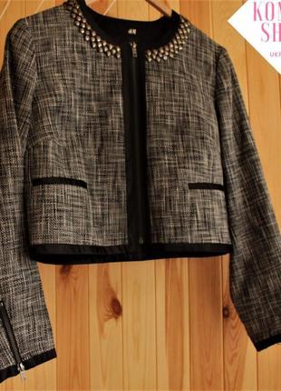 Стильный укороченный пиджак жакет h&m