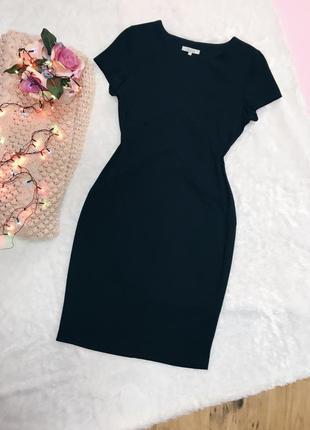 Черное классическое офисное платье футляр