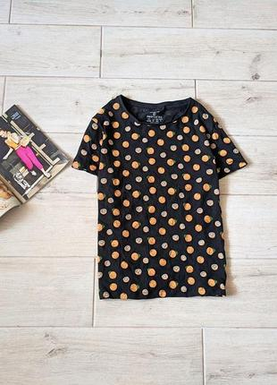 Стильная футболка в лимонах принт свободного кроя l xl