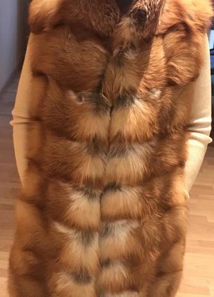 Меховый жилет из лисы
