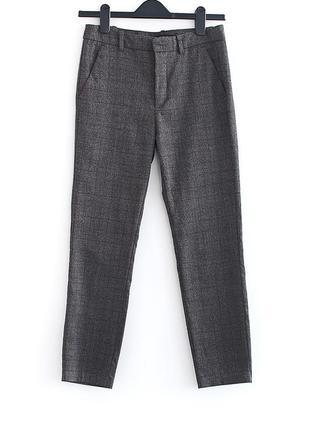 Шикарные брюки в клетку zara • р-р xs (примерно на бедра до 93 см)