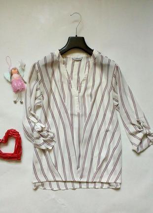 Актуальная блуза в полоску свободного кроя