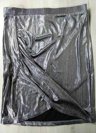 Шикарна святкова метализована мини юбка спідничка від h&m 💖💖💖 - 30% 💖💖💖