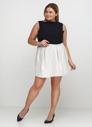 Белая юбка с серебром для нового года