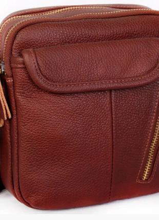 Стильная кожаная сумка из натуральной кожи