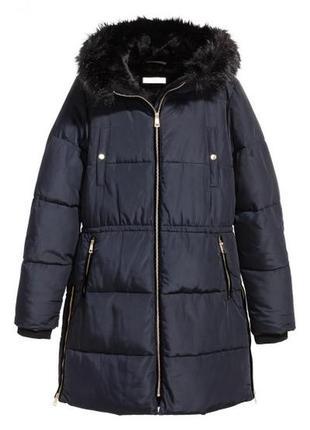 Утепленная куртка с капюшоном h&m 0522718006