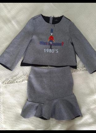 Костюм юбка кофта zara