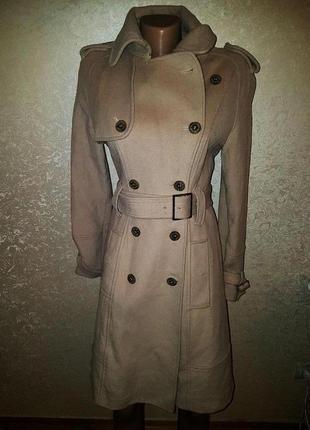 Бежевое пальто karen millen с поясом -20% на все подписчикам
