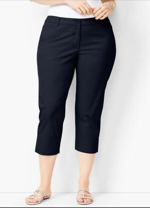 Фирменные офисные строгие укороченные брюки бриджи talbots высокая посадка, размер 48 - 50